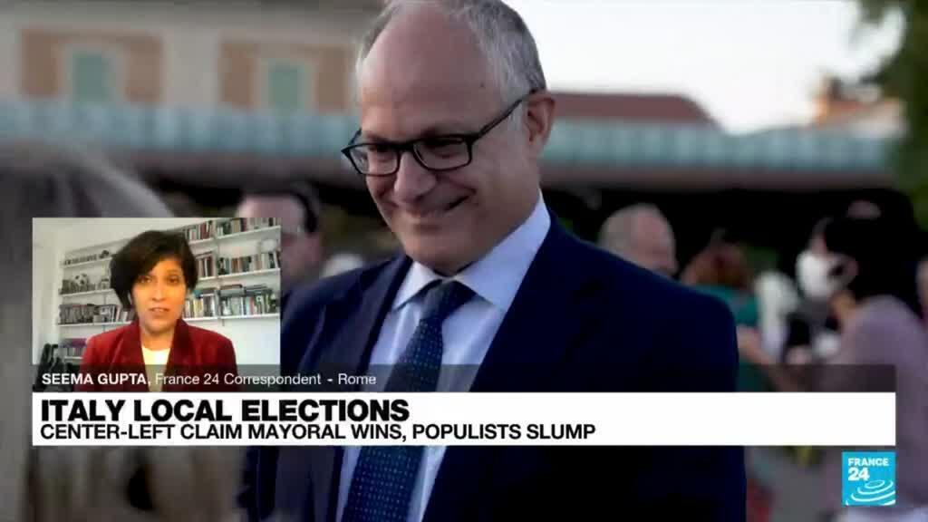 2021-10-05 08:06 Italy local elections: Center-left claim mayoral wins, populists slump