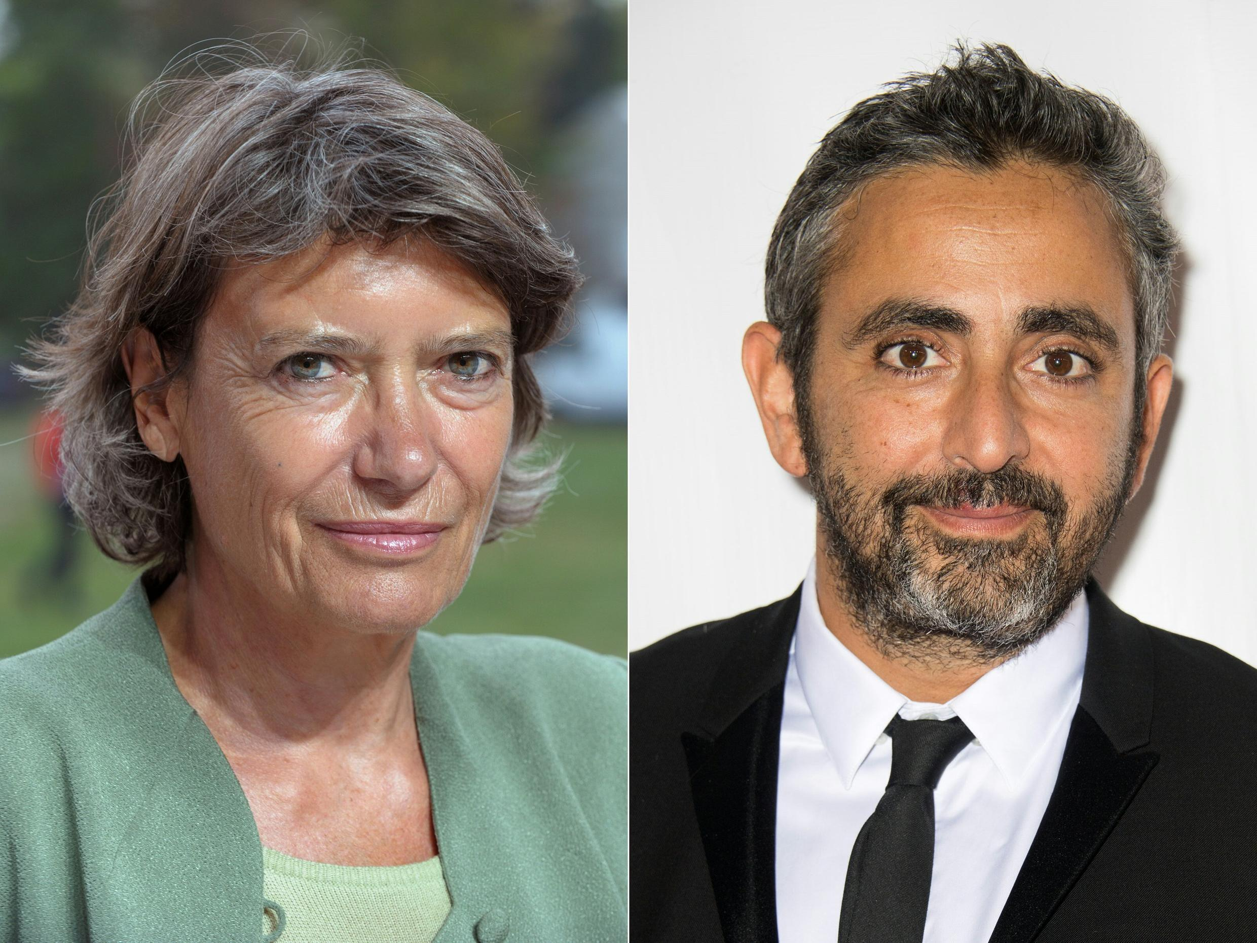 Véronique Cayla, the former president of French-German TV channel Arte (left) and French cinema director Éric Toledano (right) have been nominated to jointly head up the prestigious French César Academy, which each year awards the most prestigious French cinema prizes.