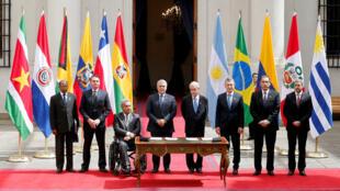 Los mandatarios de Argentina, Brasil, Chile, Colombia, Ecuador, Paraguay y Perú se reúnen en Santiago con el objetivo de poner en marcha un nuevo proyecto de integración para Suramérica: Prosur.