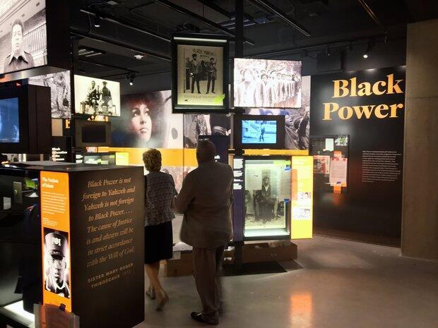 """One part of the museum looks at the """"Black Power"""" movement."""