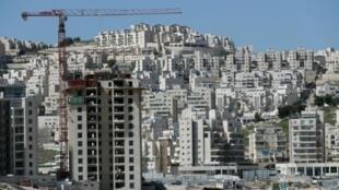 مبان قيد الإنشاء في مستوطنة حار حوما في القدس الشرقية