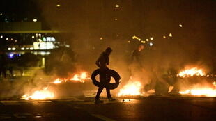 Around 300 people were on the streets of Malmo, with violence escalating as the evening wore on