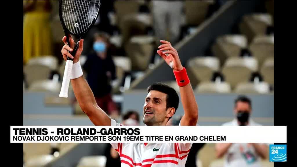 2021-06-13 21:18 Roland-Garros : Novak Djokovic remporte son 19e titre en Grand Chelem