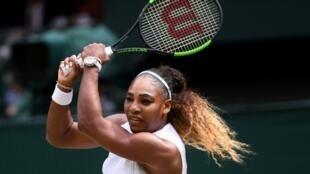 L'Américaine Serena Williams lors de la défaite en finale de Wimbledon le 13 juillet 2019