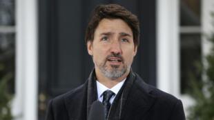 رئيس الوزراء الكندي جاستن ترودو في أوتاوا في 19 آذار/مارس 2020