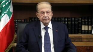 الرئيس اللبناني ميشال عون.