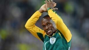 South Africa's Akani Simbine won the men's 100 meters title at Sunday's Boston Games athletics meet