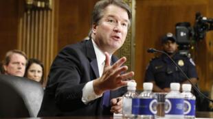 Brett Kavanaugh lors de son audition à la commission du Sénat, le 6 octobre.