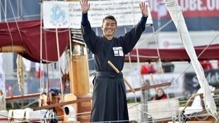 'Like a UFO': Japanese sailor Kojiro Shiraishi before the start of the 2016 Vendee Globe