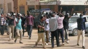 مظاهرات مناهضة للحكومة في وسط الخرطوم  7 فبراير/شباط 2019