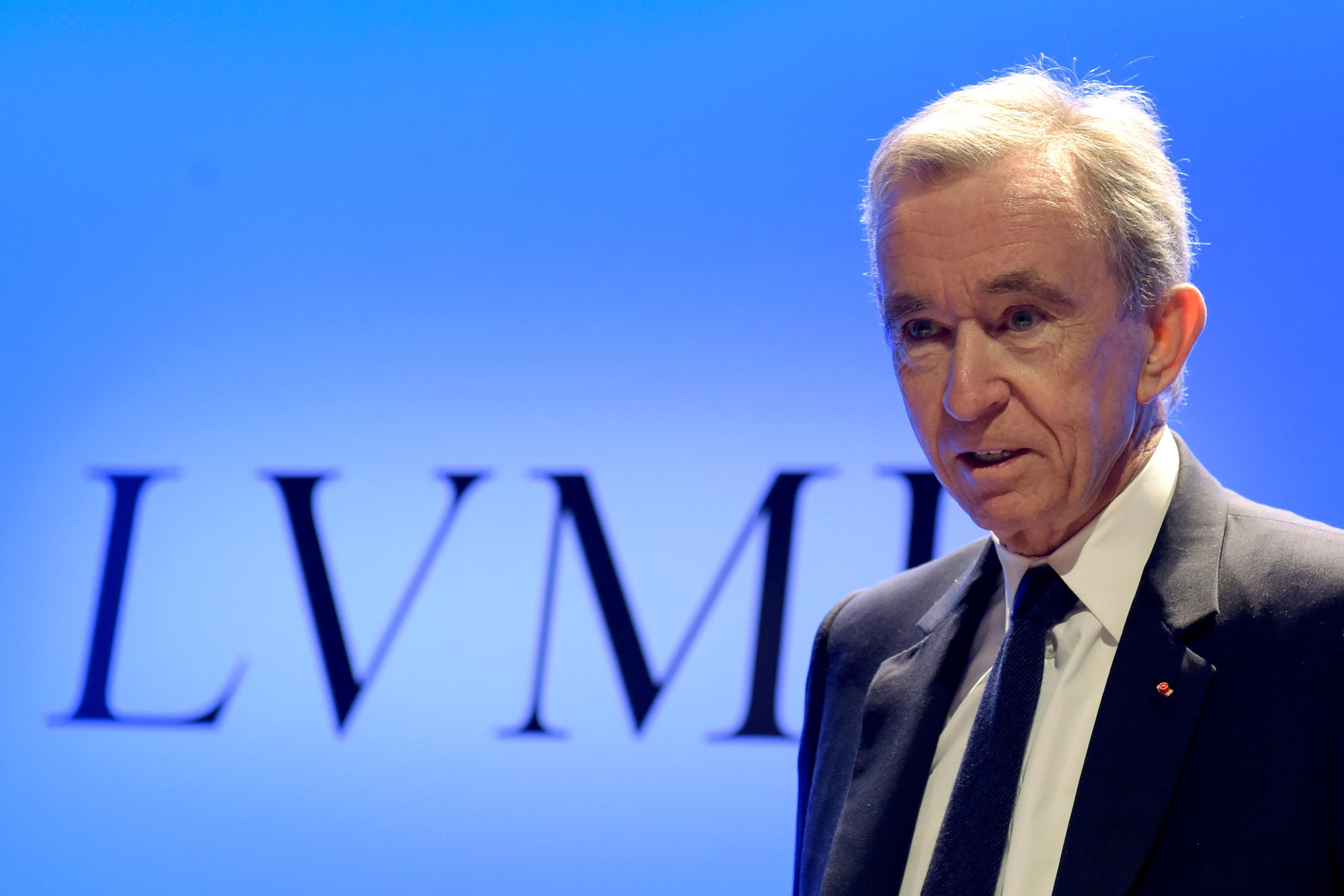 LVMH Chairman and Chief Executive Officer Bernard Arnault presents the group's annual results at the LVMH headquarters in Paris, January 29, 2019.