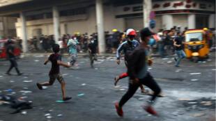 Manifestants à Bagdad le 9 novembre.