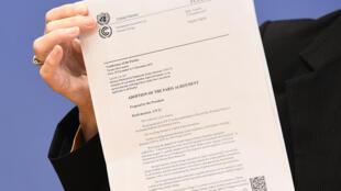 Les 31 pages du texte définitif adopté à l'issue de la COP21.