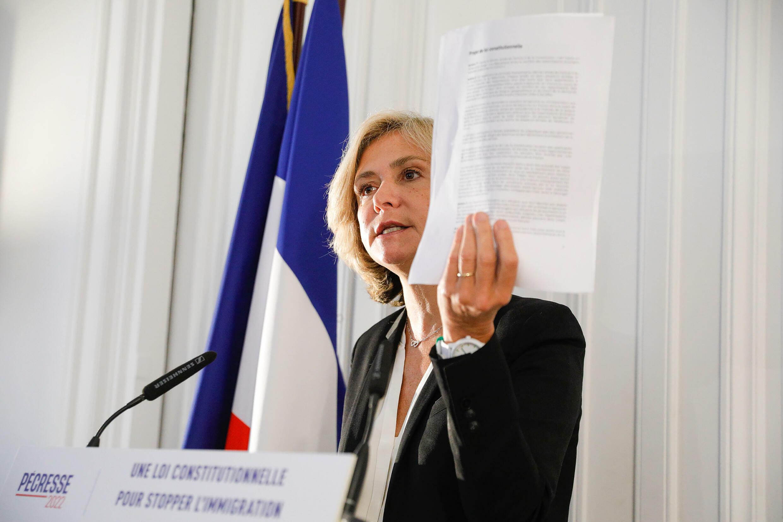 Valérie Pécresse à Paris le 5 octobre 2021