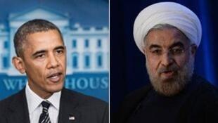 Barack Obama et Hassan Rohani
