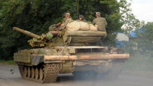 Des séparatistes pro-russes près de Donetsk, dans l'est de l'Ukraine, le 19 juillet.