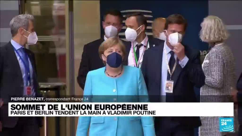 2021-06-24 13:01 Sommet de l'Union européenne : Paris et Berlin tendent la main à Vladimir Poutine