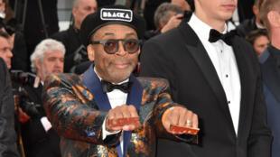 """Le réalisateur Spike Lee, grand prix du jury pour """"BlacKkKlansman"""" au Festival de Cannes 2018."""