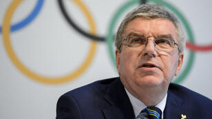 Thomas Bach, le président du Comité international olympique (CIO), lors d'une conférence de presse à Lausanne, le 21 juin.