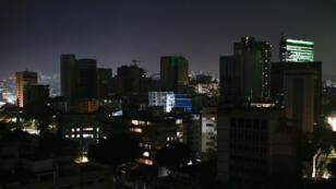 Caracas privée d'électricité, le 10mars2019.