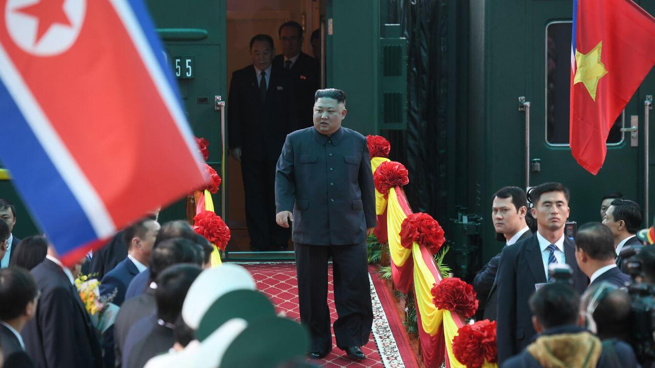 Kim Jong-un à son arrivée au Vietnam, le 26 février 2019, avant son second sommet avec Donald Trump.