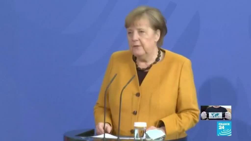 2021-03-24 18:03 Covid-19: Angela Merkel se disculpa por querer endurecer las restricciones durante Semana Santa