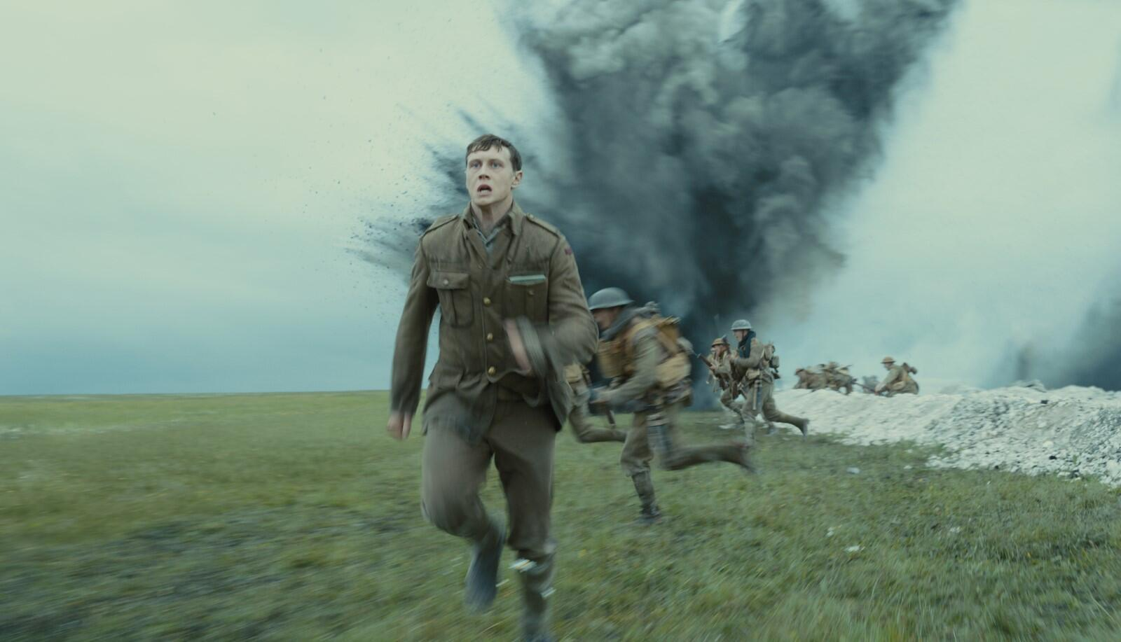 George MacKay as Schofield in 1917, the new epic from Sam Mendes.