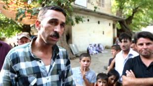 Des déplacés yazidies ayant trouvé refuge à Lalish.