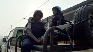 Des casques bleus de l'ONU patrouillent en Centrafrique, le 14 février 2016.