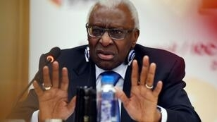 Lamine Diack, pictured in 2015. before he stood down as International Association of Athletics Federations (IAAF) president