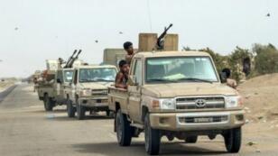 قوات يمنية موالية للحكومة تنتشر في الحديدة، 21 يونيو/حزيران 2018.
