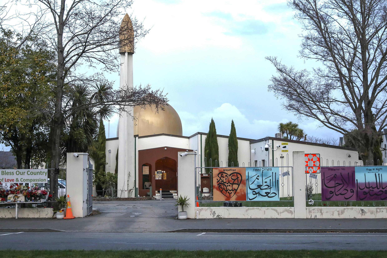 La mezquita de Al Noor, que se encuentra frente al campo de cricket Hagley Oval, en Christchurch, Nueva Zelanda.