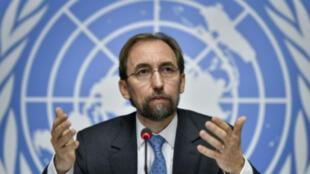 Le Haut Commissaire des Nations unies, Zeid Ra'ad al-Hussein, le 16 septembre 2015 à Genève.