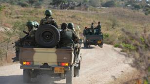 Des soldats camerounais patrouillent dans l'extrême-nord du Cameroun, le 16 février 2015.