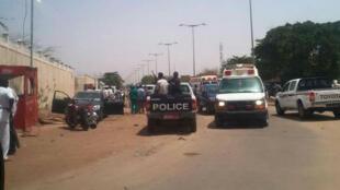 Devant l'école de police, à N'Djamena, le 15 juin 2015.