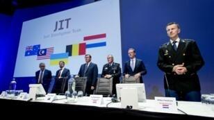 El Equipo de Investigación Conjunta internacional desvela los últimos avances en la investigación del accidente del MH17 en 2014, el 19 de junio en Nieuwegein, Países Bajos.