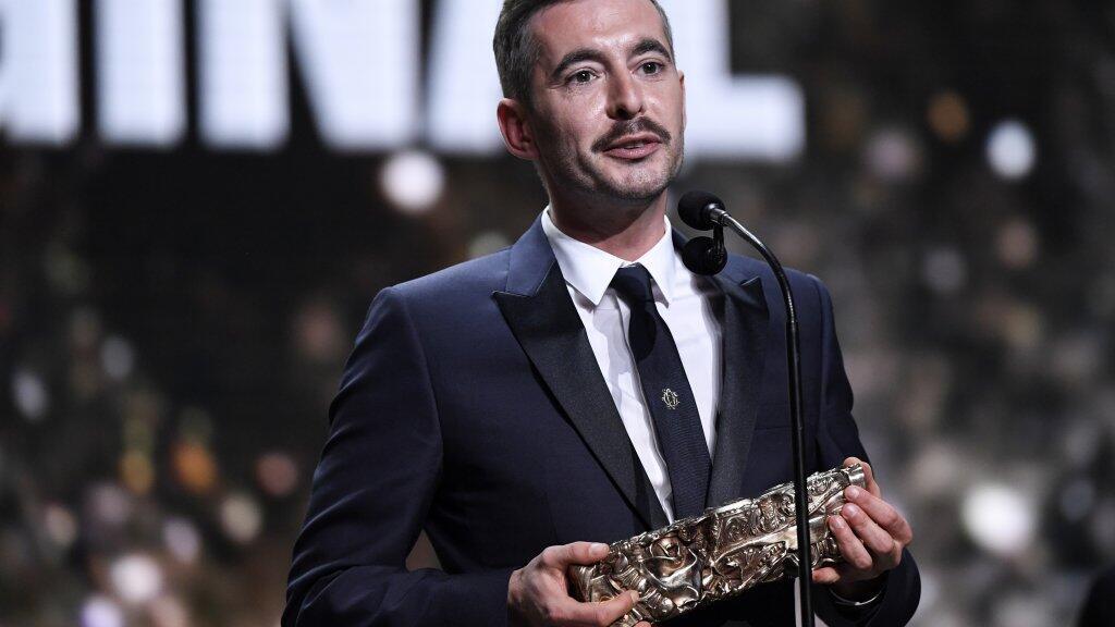 """كزافييه لوغران مخرج فيلم """"جوسكا لا غارد""""، الحائز جائزة سيزار لأفضل فيلم، 2019/02/22."""