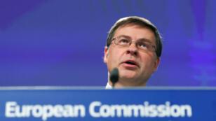 Le vice-président de la Commission européenne Valdis Dombrovskis.