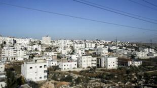 La colonie israélienne de Givat Harsina, construite près d'Hébron, dans les Territoires palestiniens.