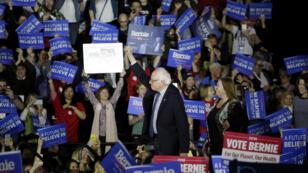 Le candidat démocrate Bernie Sanders à Des Moines, dans l'Iowa, le 1er février 2016.