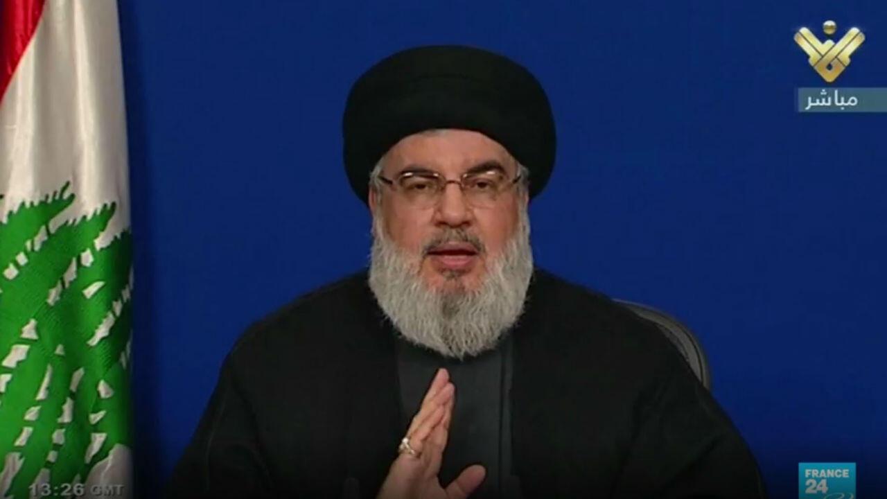Hassan Nasrallah a appelé les partisans du Hezbollah à déserter le centre de Beyrouth après des heurts avec les manifestants, vendredi 25 octobre 2019.
