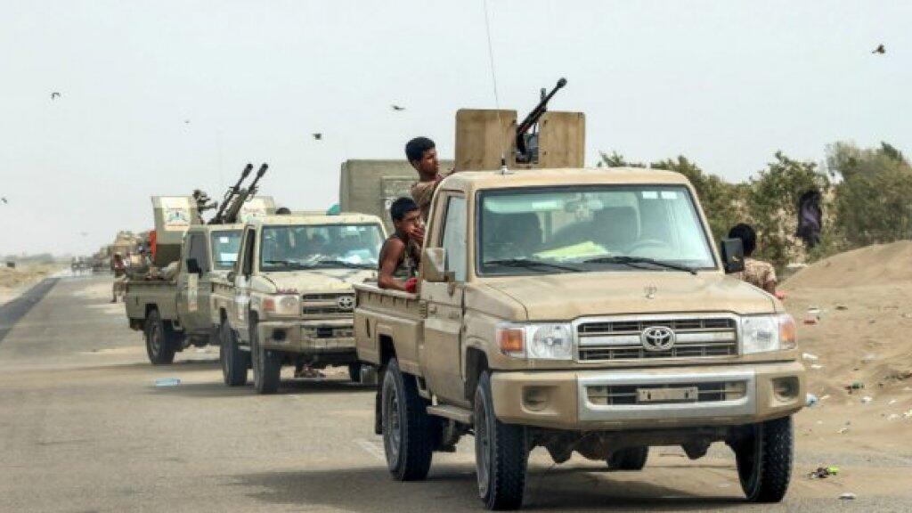 قوات يمنية موالية للحكومة ومدعومة من الرياض تنتشر في الحديدة، 21 حزيران/يونيو 2018