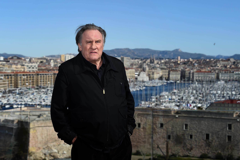 El actor Gérard Depardieu en Marsella, el 18 de febrero de 2018.