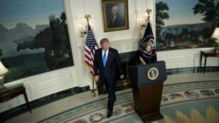 Le président américain a confirmé la suspension des sanctions économiques contre l'Iran, le 12 janvier.