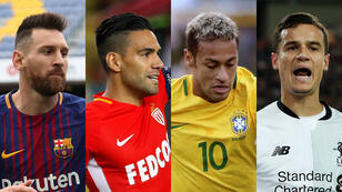 Messi, Falcao, Neymar y Coutinho.