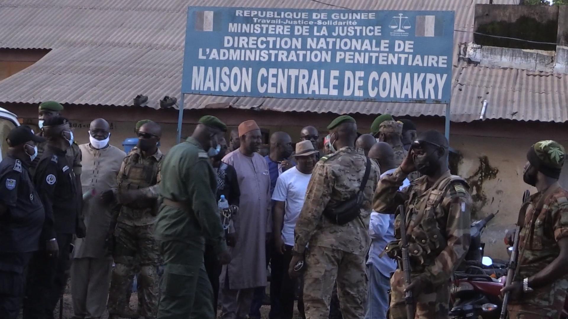 Libération de détenus politiques à la prison centrale de Conakry