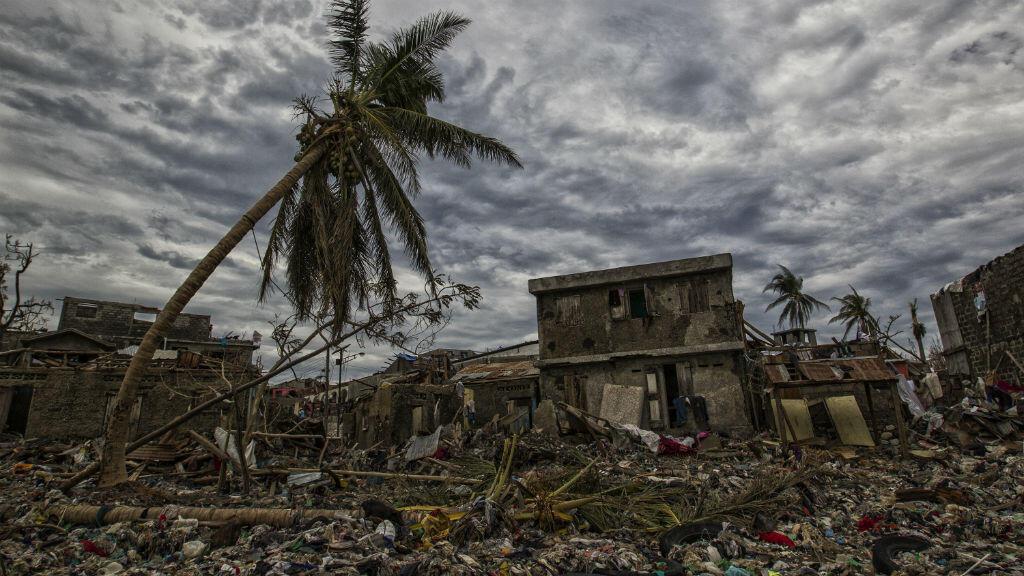 La ville de Jérémie, dans l'ouest d'Haïti, a été frappée de plein fouet par l'ouragan Jérémie le 4 octobre 2016.