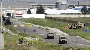 أحد المعابر الحدودية بين الأردن وسوريا