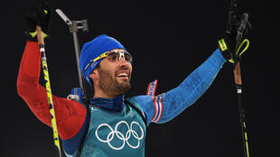 Martin Fourcade a remporté la mass start des Jeux de Pyeongchang, dimanche 18 février 2018.