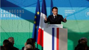 Emmanuel Macron à l'Éysée le 27 novembre 2018.